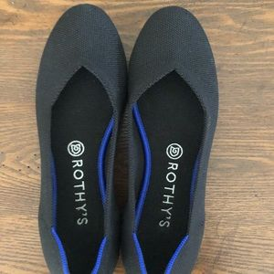 Rothys 8.5 Black Solid Flat